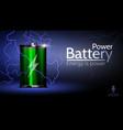 beautiful advertising green battery vector image vector image