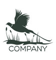 bird pheasant logo vector image vector image