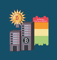 bitcoin cryptocurrency design vector image