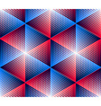 Bright symmetric seamless pattern with interweave vector image vector image