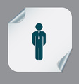 business man in a tie vector image