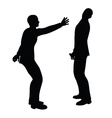 businessman slap vector image