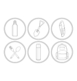 Camping linear icon set vector image vector image