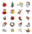 Christmas minimalistic icons vector image vector image