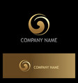 circle gold swirl gold logo vector image vector image