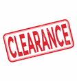 clearance grunge rubber stamp on white vector image vector image
