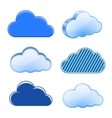 Cloud icon collection vector image vector image