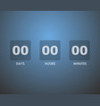 countdown timer background vector image vector image