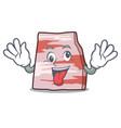 crazy pork lard mascot cartoon vector image vector image