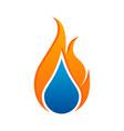 creative concept water and gas logo symbol vector image vector image