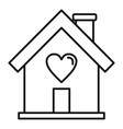 donate home icon outline style vector image vector image