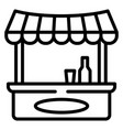 drink shop kiosk icon outline style vector image vector image