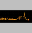 dubai light streak skyline vector image