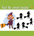 find the correct shadow educational matching game vector image