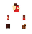 Flat icon chocolate set of dessert cocoa sweet