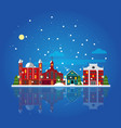 flat winter city landscape template vector image vector image