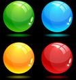 Glossy balls vector image vector image