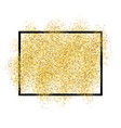 gold glitter sand in black frame isolated white vector image