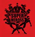 group superhero action vector image