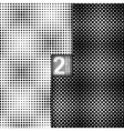 Halftone Dots Style Black White Seamless Patterns vector image vector image