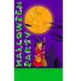Halloween for print flyer greeting vector image