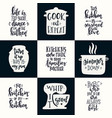 hand drawn typography poster set conceptual vector image vector image
