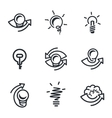 Idea icons set vector image vector image
