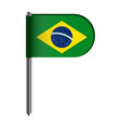 isolated flag of brazil vector image vector image