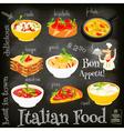 italian food chalk vector image vector image
