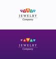 Jewelry company logo 02 vector image vector image