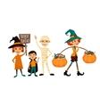 Kids in Halloween festive design concept vector image vector image