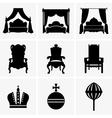 King beds and thrones vector image