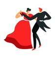 man and woman dancing ballroom dance dancers vector image