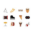 musical instruments string wind percussion icon vector image