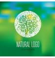 Natiral Logo 08 grunge vector image vector image