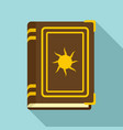 old fortune book icon flat style vector image vector image