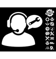 Operator Service Message Icon with Tools vector image vector image