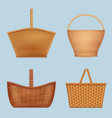 picnic basket handmade decorative containers for vector image vector image