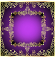 purple background with gold ornament vector image vector image