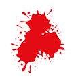 red spot paint on white background vector image
