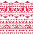 scandinavian seamless pattern folk art vector image vector image