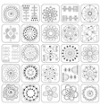 Seamless pattern Sampler doodle flowers leaves