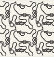 seamless pattern with sea knots vector image vector image