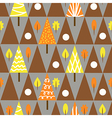 Seamless triangle tree autumn pattern forest vector image vector image