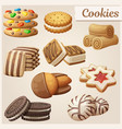 Set delicious cookies cartoon
