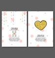set of birthday greeting cards creative design vector image vector image