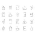 simple set coffee and tea line icons vector image