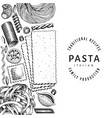 talian pasta design template hand drawn food vector image vector image