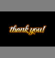 thank you word text banner postcard logo icon vector image