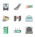 train means movement and other web icon in vector image vector image